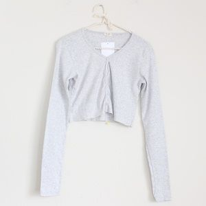 NWT Brandy Melville Snap Button Down Cropped Top